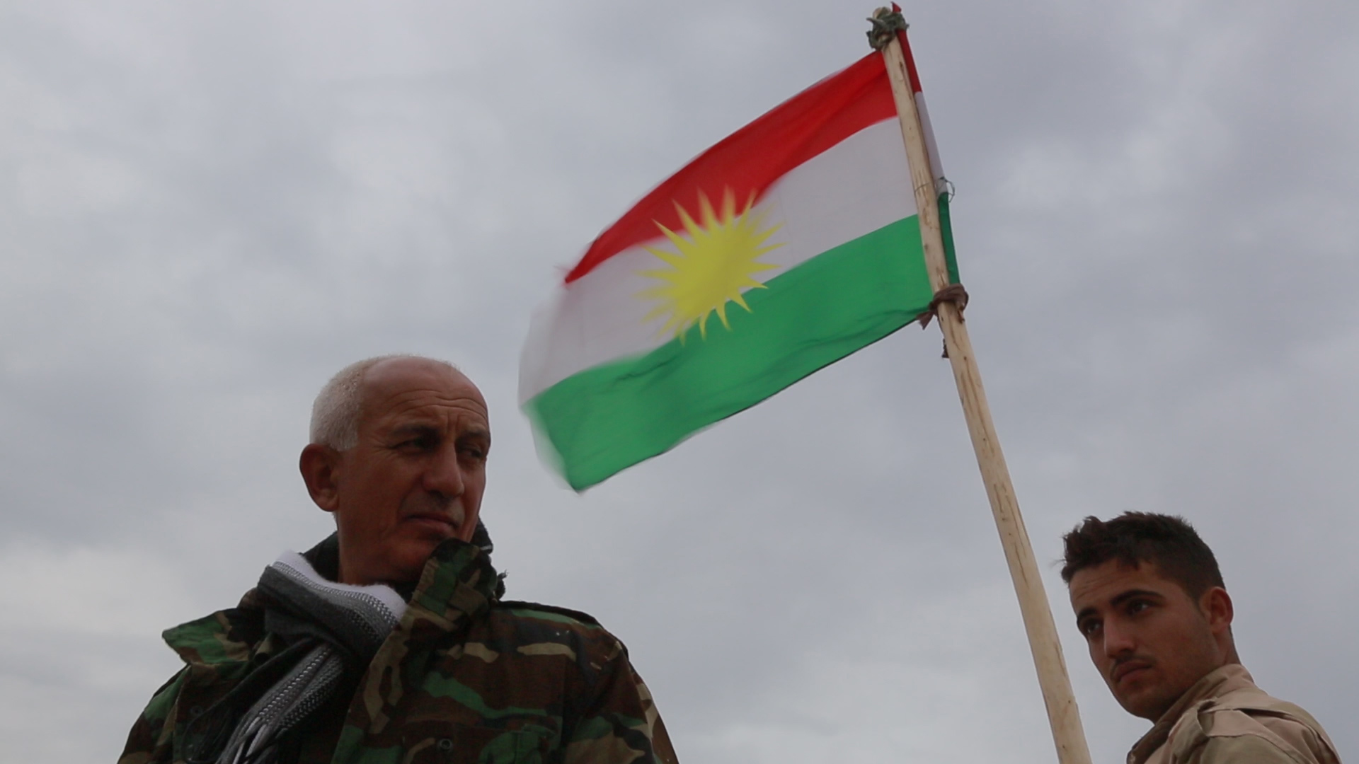 peshmerga and flag